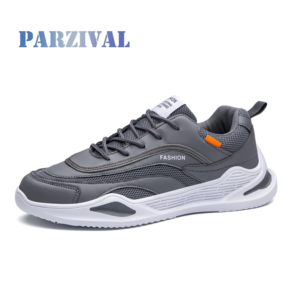 PARZIVAL zapatillas nuevas de cuero Casual para hombres Zapatos vulcanizados tendencia transpirable ligero Zapatos de papá Tenis Masculino Hombre