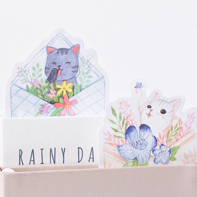 1 pack/lote lindo gato tu carta serie Memo Pad plan semanal Notas Adhesivas Post papelería escuela suministros de Planificador de pegatinas de papel