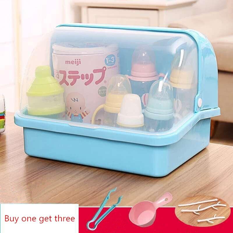 Baby Feeding Bottle Drying Rack Newborn Multifunctional Bottle Storage Box Baby Bottle Holder Drain and Tableware Cupboards
