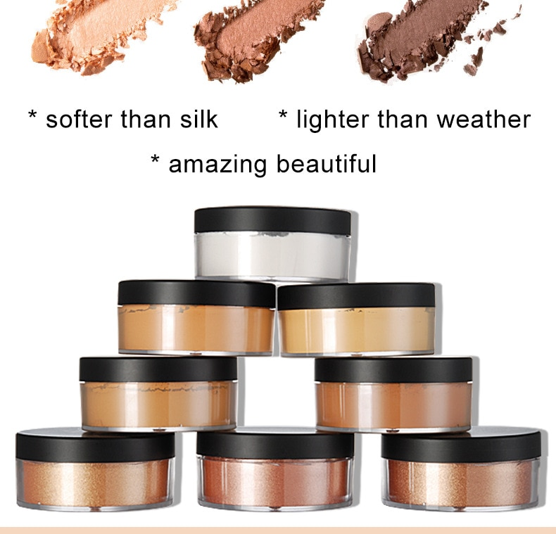 Face Loose Powder Mineral Waterproof Matte Setting Finish Makeup Oil-control Professional Women's Cosmetics Private Label
