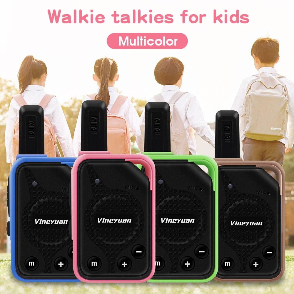 Портативная мини-рация Vineyuan, 1 пара, детские подарки, двухстороннее радио, 16 каналов, CB коммуникатор, сканер с наушниками