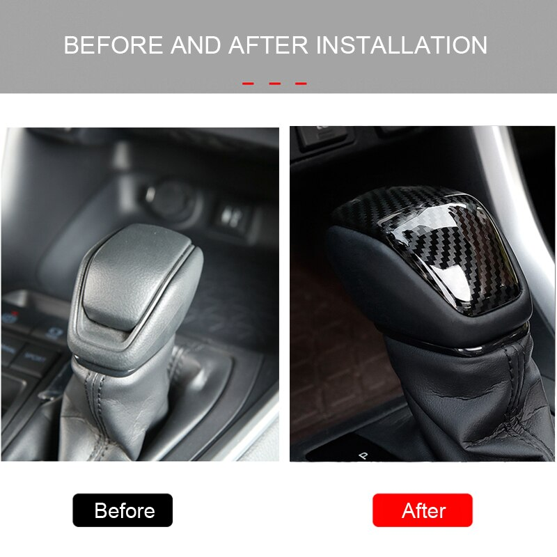 Para Toyota RAV4 XA50 2019 2020 ABS de carbono estilo de fibra Interior pomo de palanca de cambio de marchas tapicería decorativa accesorios de estilo de coche