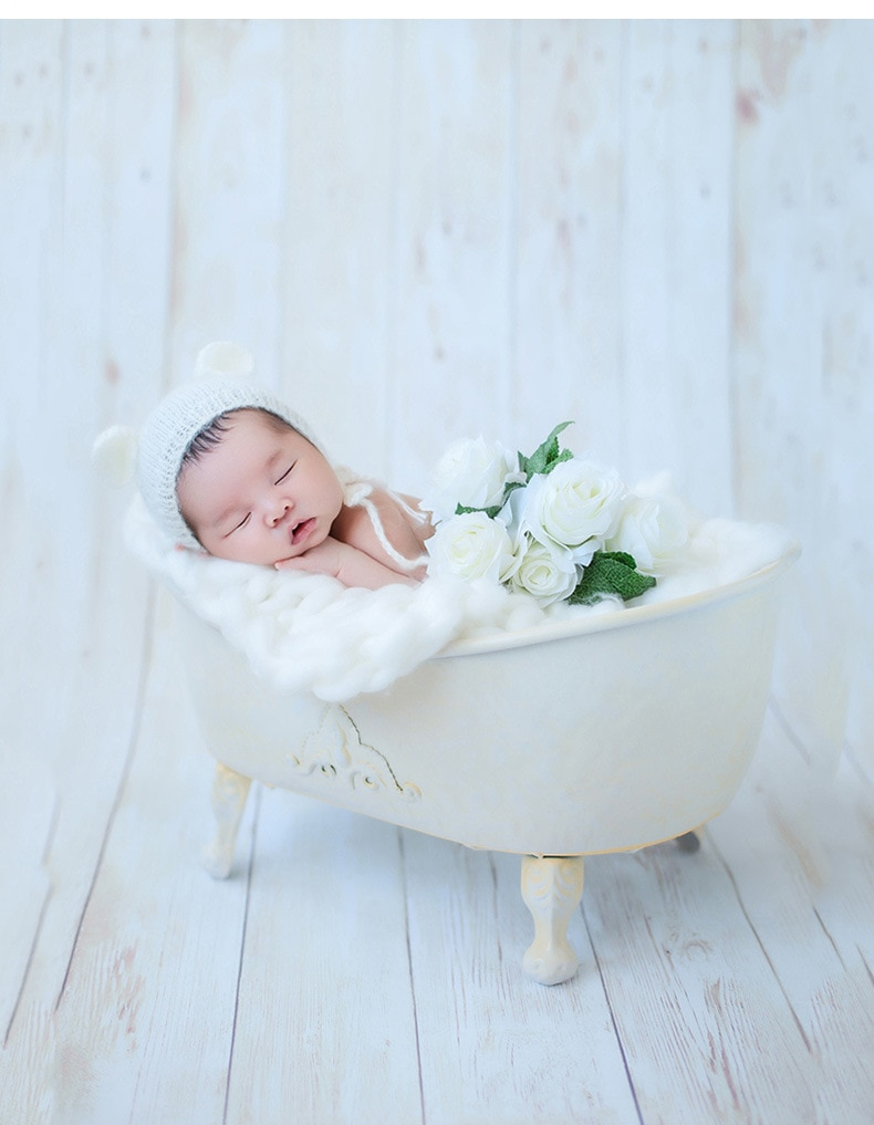 Newborn Photography Props INS Baby Cribes Bathtub Bebe Bed Shower Bathtub for Infant Summer Studio Posing Basket Accessories enlarge