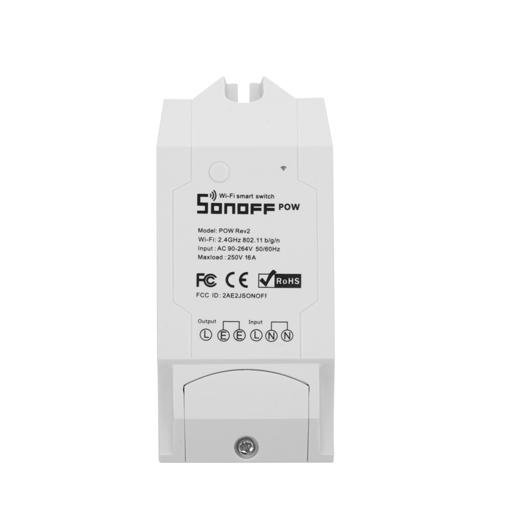 Monitor de Controle Proteção contra Sobrecarga Sonoff Smart Power Remoto Interruptor Luz Controle Voz Cronograma Temporizador Pow r2 wi fi