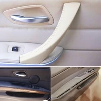 lhd microfiber leather car door handle pull armrest cover trim for bmw 3 series e90 320 325 330 318 2005 2012
