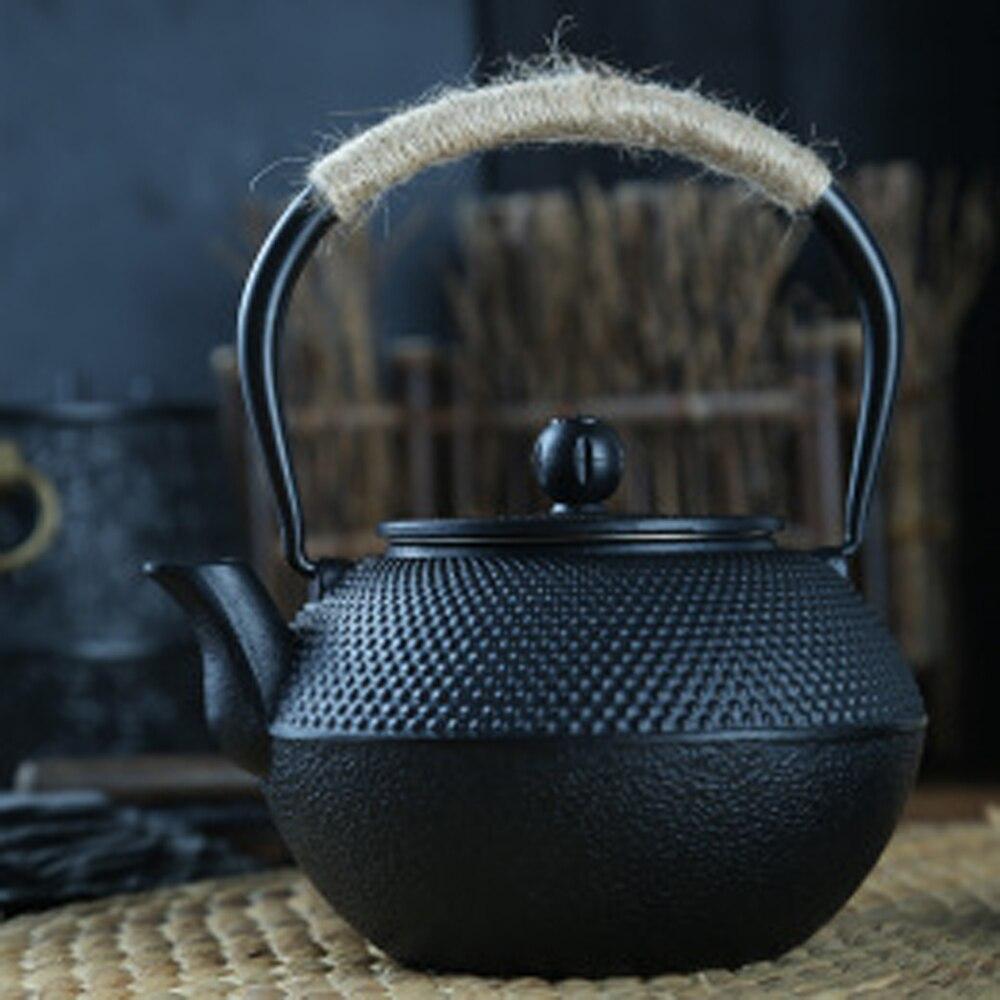 600/900 مللي أواني الشاي الحديد الزهر العتيقة مع مساعد لتحليل الفولاذ إبريق الشاي براد شاي لغلاية الماء المغلي