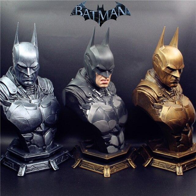Resina Estátua Busto Reformulação Com 3pcs cabeças substituídas 1/3 Escala Dawn of Justice Batman Super Herói Batman