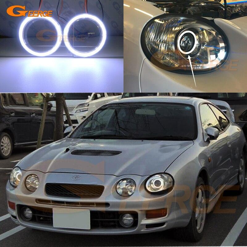 Превосходный COB комплект светодиодов «глаза ангела» halo кольца Ультра яркое освещение для Toyota Celica ST202 ST205 1994-1999 Kouki фары