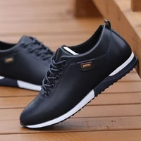 outdoor breathable sneakers mens pu leather business casual shoes for male 2019 fashion loafers walking footwear tenis feminino