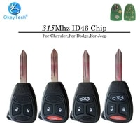 okeytech for chrysler 300 300c pacifica stratus dodge jeep cherokee grand car remote key 315mhz id46 transponder chip blanks