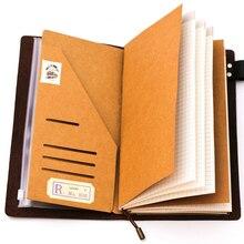 Papel de relleno cuaderno de viajero Kraft papel Pocker tarjeta de visita titular Carpeta de archivo