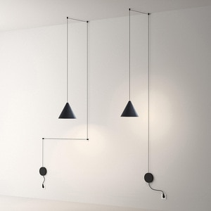 Nordic LED String Light Pendant Lights Geometric Bedside Pendant Lamp for Living Room Bedside Wall Sconce Hanging Light Fixture