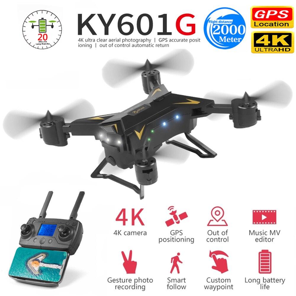 KY601G KY601S profesional Drone con cámara HD 4K 5G WiFi GPS FPV de distancia de Control remoto 2KM RC helicóptero Quadcopter chico Juguetes