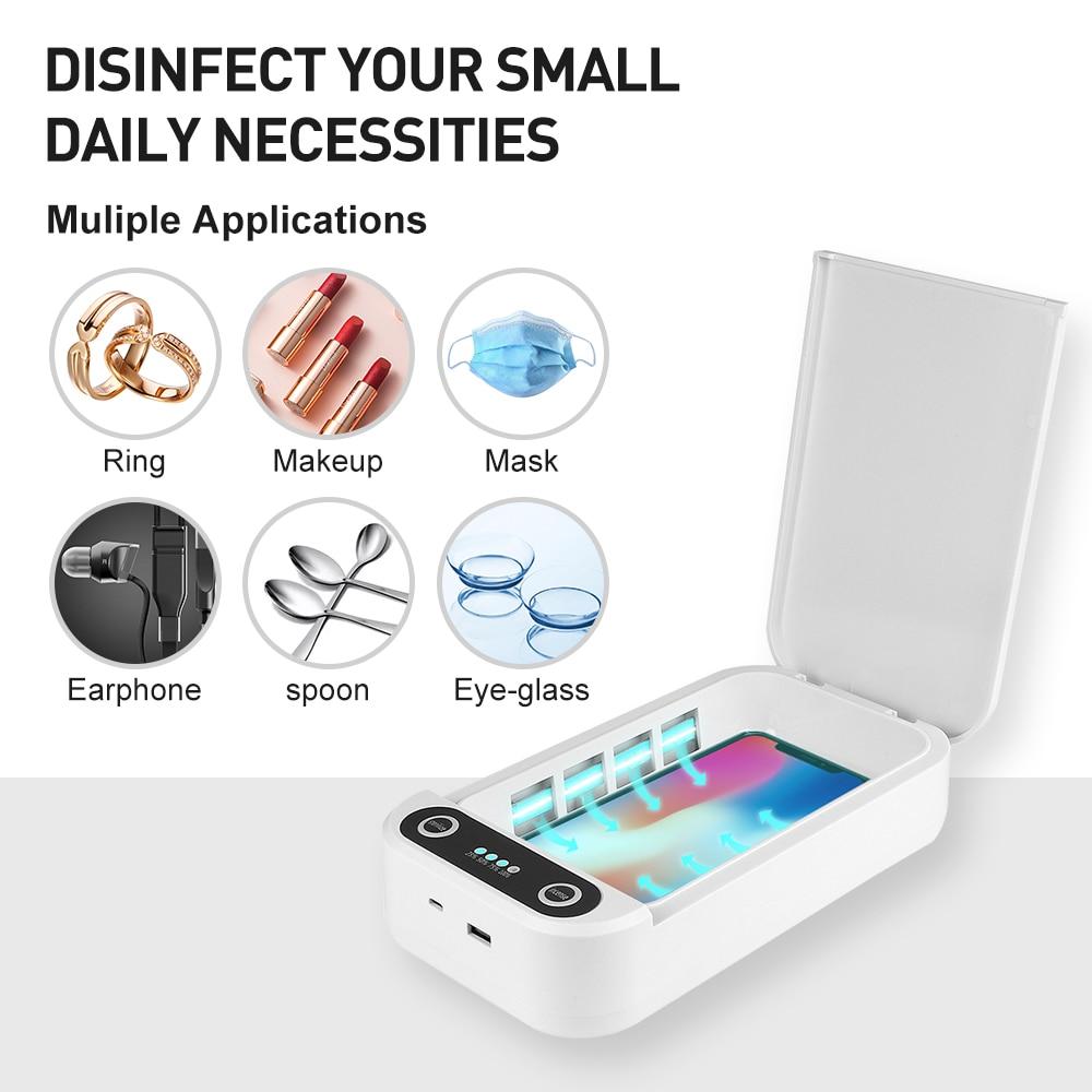 UV Sterilizer Box UV Sanitizer Ultraviolet Sterilizer Facemask Disinfection Cabinet for Jewelry Watc