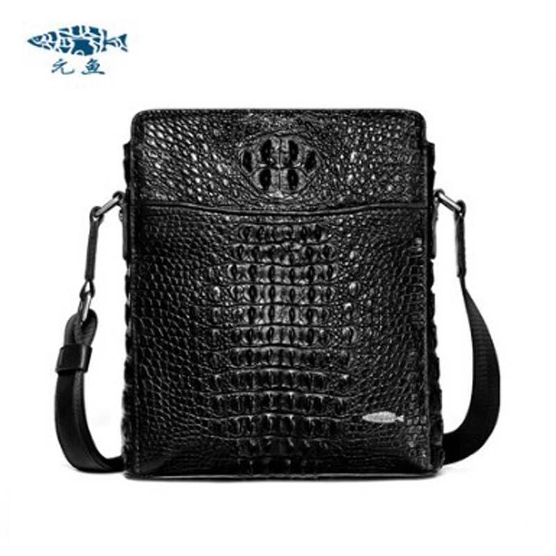 yuanyu New crocodile leather men's bag  imported crocodile leather cross body men bag genuine crocodile leather  single shoulder