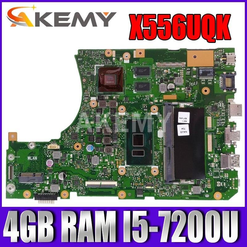 Akemy X556UQK اللوحة ل Asus X556UV X556UQ X556UQK X556UVK اللوحة المحمول 4 جيجابايت RAM I5-7200U SR2ZU CPU GT940M-2G اختبار Ok