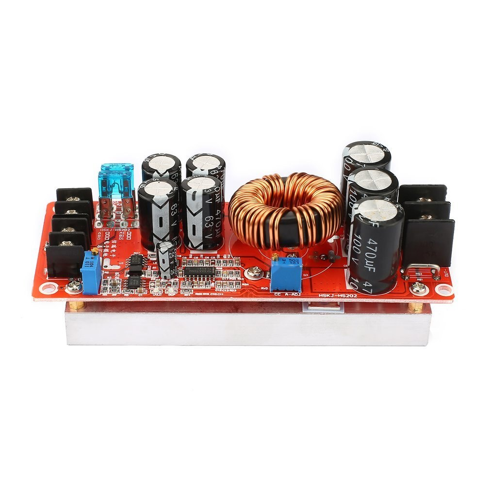 Portátil 1200W corriente constante DC Boost Converter fuente de alimentación Step-up módulo 10V-60V 20A entrada 12V-80V salida