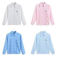 new 4 colors long sleeve cotton shirt japanese student girls school jk uniform top large size xs xxl middle high school uniforms