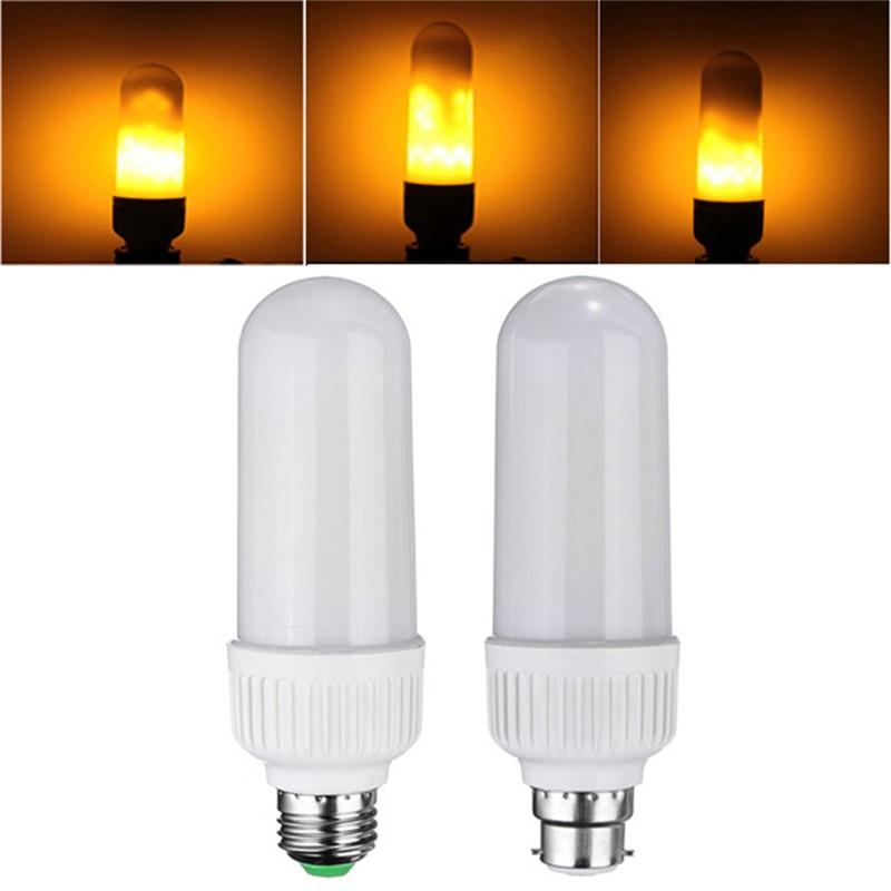 E27 B22 5W 2835 SMD LED Bombilla de la lámpara de la llama 1800K amarillo parpadeo llama fuego LED Bombilla de la luz del maíz AC85-265V