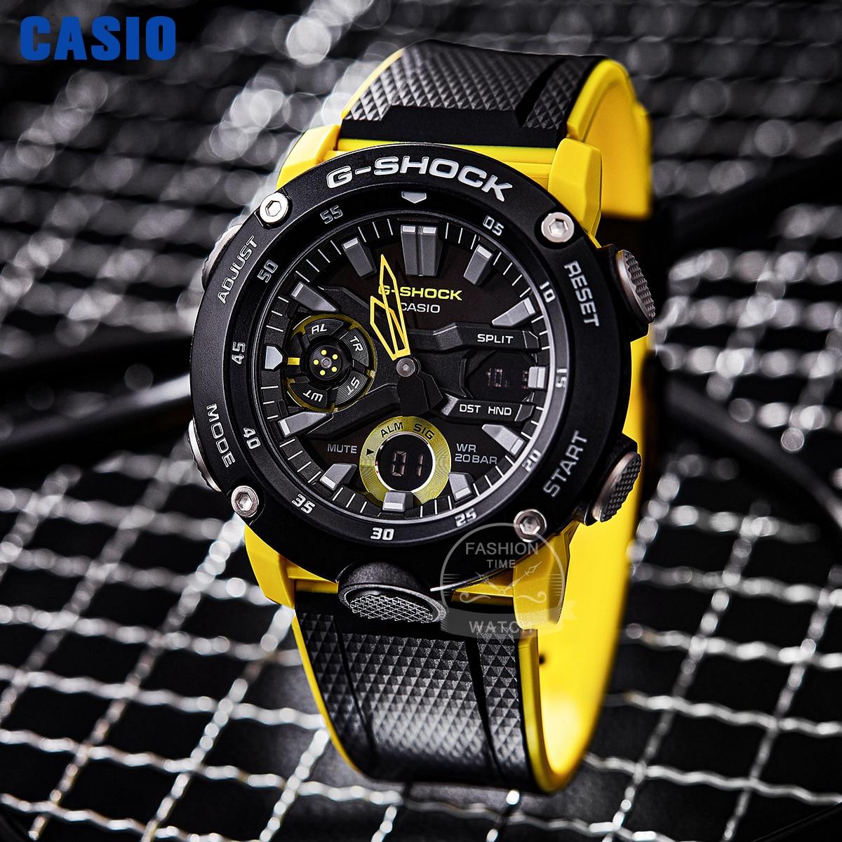 ساعة كاسيو للرجال G-SHOCK ماركة فاخرة مجموعة صغيرة قابلة للتبديل حزام من ألياف الكربون حماية الرياضة relogi ساعة GA20001A9