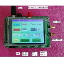 Módulo de Ecrã Táctil a Cores Varredura ADF4355 RF Fonte de Sinal VCO PLL Sintetizador de Freqüência de Microondas 250 M-6.8G
