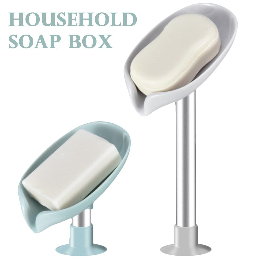 Ящик для мыла в форме листа, сушилка для мыла, контейнер для туалетного мыла, перфорированная отдельно стоящая присоска, дорожные аксессуар... les contes elfe d or набор туалетного парфюмированного мыла