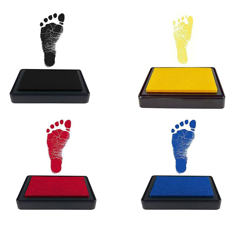 Baby Handprint Footprints Ink Pads Kits Pet Cat Dog Paw Print Souvenir Safe Non-Toxic Gifts