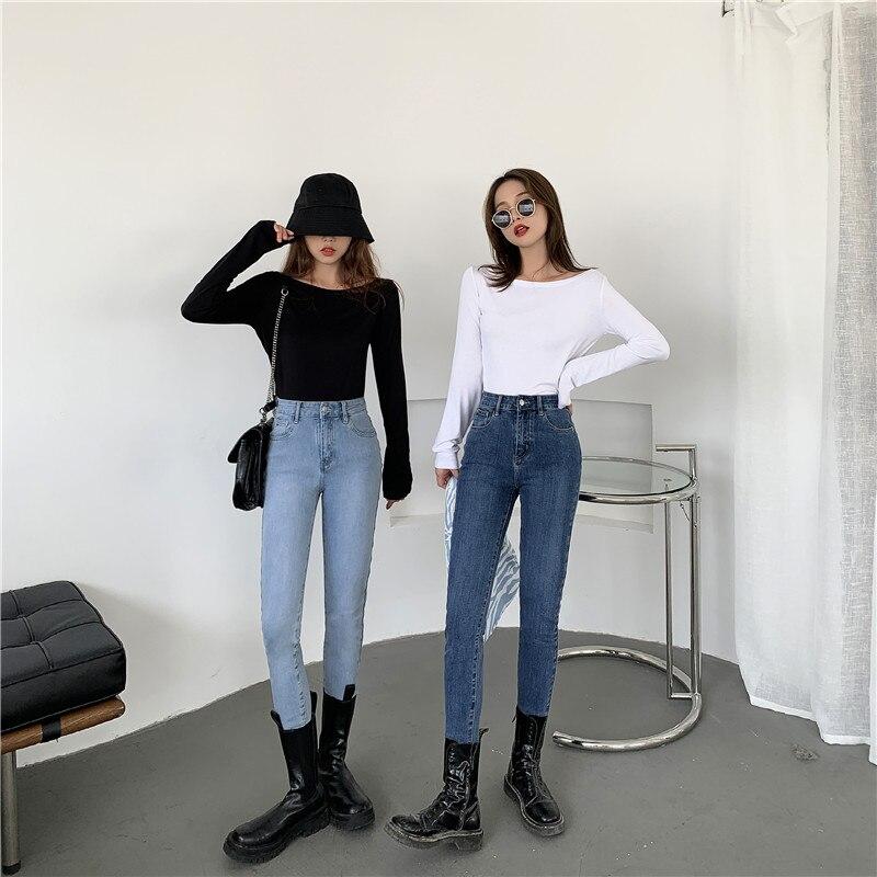 Женские синие джинсовые Джинсы женские серые черные джинсы стрейч джинсы высокоэластичные женские джинсовые узкие брюки-карандаш JK499