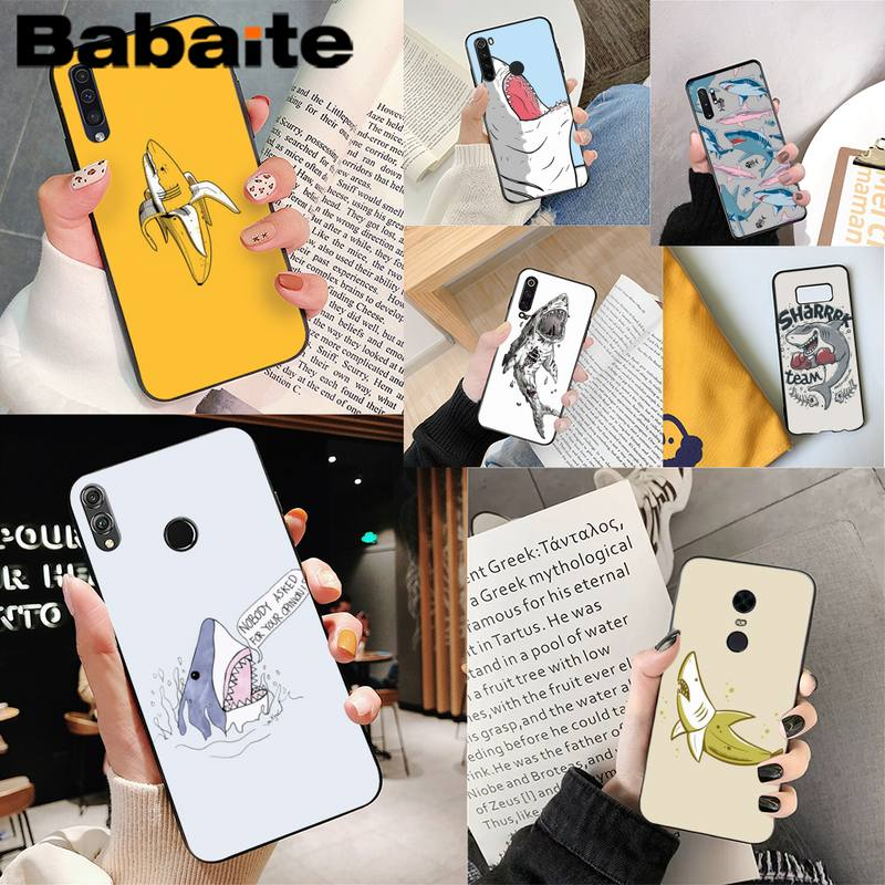 Funda de teléfono con bonitos dibujos de tiburón de Babaite para iPhone 8 7 6 6S Plus X XS MAX 5 5S SE XR 11 11pro promax