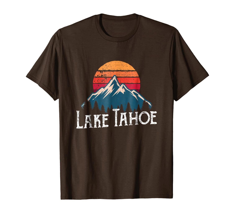 Rétro Vintage lac Tahoe californie Nevada t-shirt