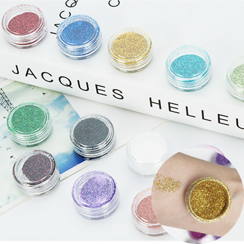 Stage Show Makeup Pigment Eyeshadow Powder Nail Art Glitter Chrome Powder Decorations For EYES HAIR