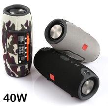 Big Power 40W Bluetooth Speaker FM Radio Waterproof Portable Column Super Bass Stereo Subwoofer Comuter PC sound box BT AUX TF