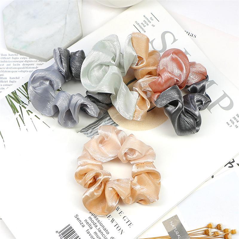 4pcs Korea Velvet Scrunchie Rubber Elastic Hair Bands Solid Women Girls Headband Ponytail Holder Ties Rope Hair Accessories