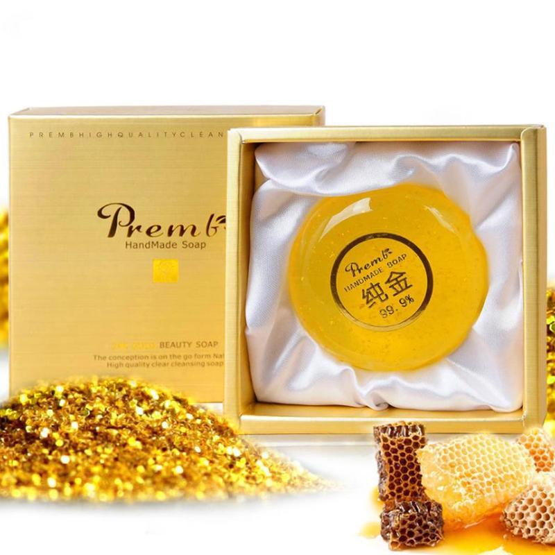 Чистое 24 К золото мыло ручной работы женьшень очищающее мыло от акне лечение удаление клещей ремонт мыло увлажняющее масло контроль мыло