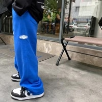 autumn 2021 new childrens sweatpants solid color label boys pants korean version of loose casual trousers