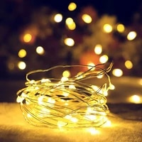 led string lights copper wire fairy lights night light for christmas garland room indoor wedding holiday party decoration lamp