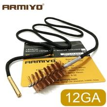 Armiyo Tactical Shotguns Bore Brush 12GA 12 Gauge 18.5mm One-piece Gun Barrel Cleaning Kit Sling Hunting Shooting Accessories