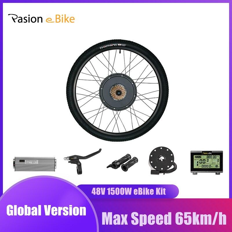 Комплект для переоборудования велосипедов Pasion eBIKE, 26 в, набор для переоборудования электрического велосипеда 48 в 1000 Вт 1500 Вт, мотор-колесо за...