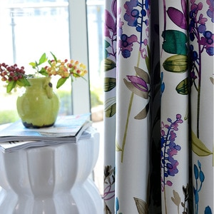 2021Purple High-precision Printing Curtains Full Blackout Finished Curtains for Living Dining Room Bedroom