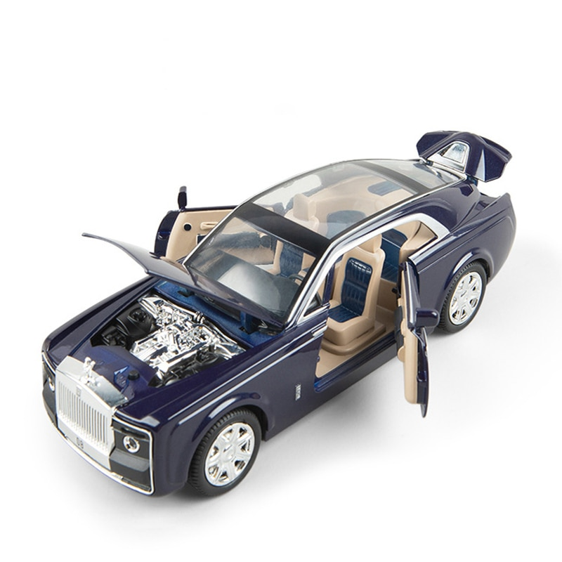1/24 Scale Diecast Car Model Alloy Toy Car Simulation Sound And Light Pull Back Metal Car Toy Vehicle Kids Boys Toys Car Gift 1 24 diecast car model metal toy vehicle suv alloy car wheels sound and light doors open pull back car boys toys cars kids gift