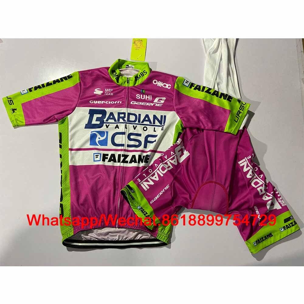 Bardiani Valvol Faizane Csf 2020, traje de Ciclismo, camisas de verano, Ropa de Ciclismo, Jersey, conjunto, chaqueta, babero, pantalones cortos, Kit de Maillot