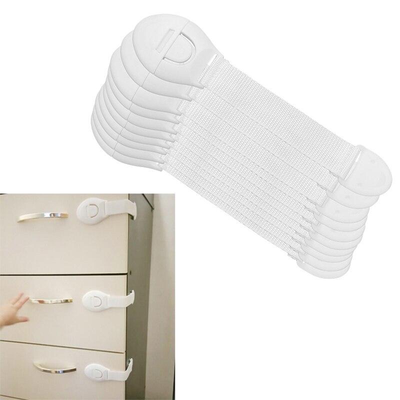 8 шт./лот защита для безопасности детей замок для шкафов пластиковый замок Защита для детей блокировка от дверей ящиков