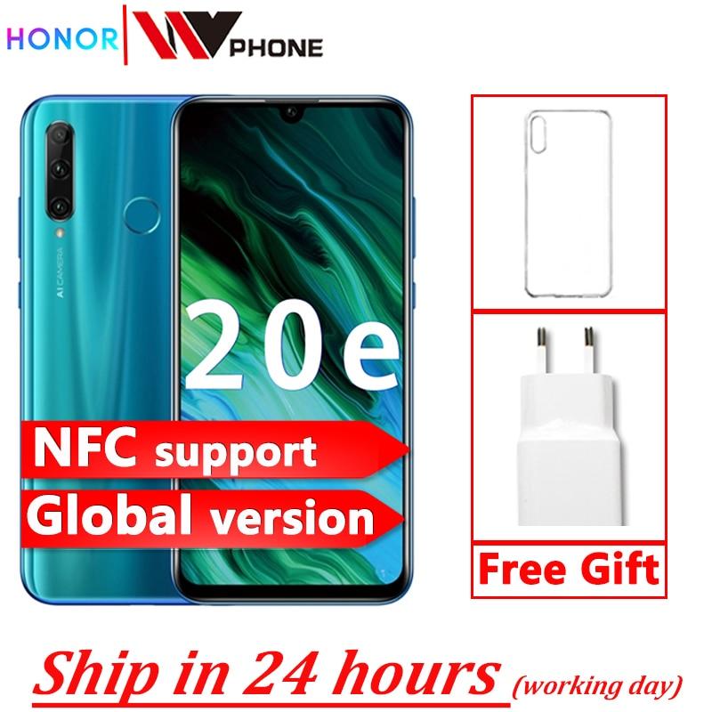 Перейти на Алиэкспресс и купить Глобальная версия Honor 20e 20 e смартфон Kirin 710 Восьмиядерный 6,21 ''4 Гб 64 Гб Тройная камера мобильный телефон google Play Android