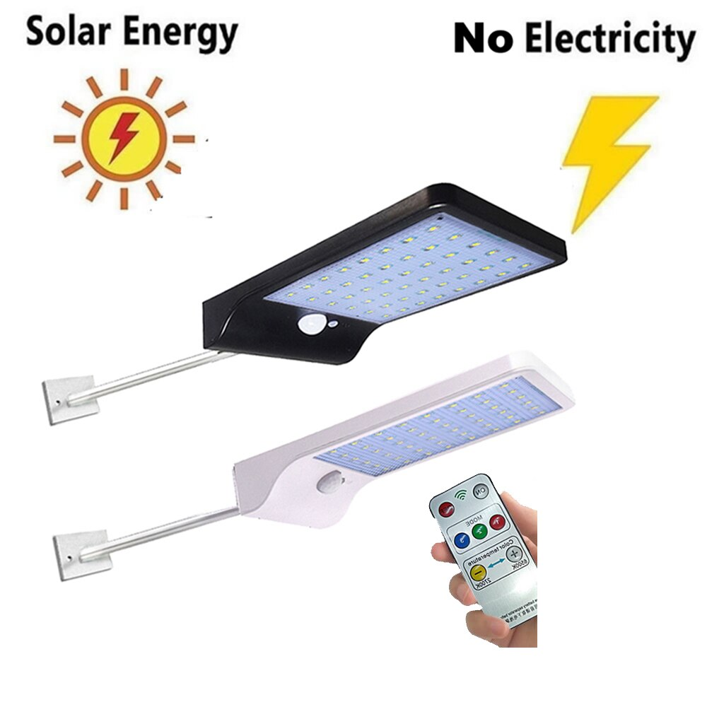 48 LED Solar tierra luz impermeable jardín camino Solar lámpara para casa patio camino césped camino blanco/blanco cálido pared + Garde lámpara