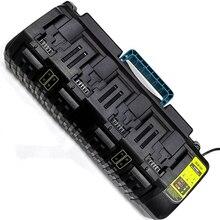 Le plus récent double Port USB chargeur de batterie au Lithium 100-240V universel pour Dewalt 4 ports 12v/14.4v/20V (max) DCB104 livraison gratuite