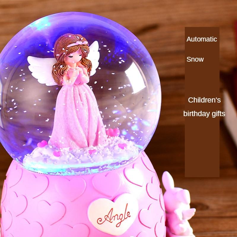Crystal Ball Rotating Music Box LED Night Light Music Box Snowflake Dancing Ballet Princess Child Birthday Gift Girl Bedroom LED enlarge