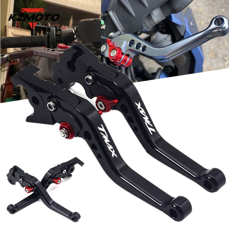 for yamaha tmax 500 tmax500 t max 500 2008 2009 2010 2011 cnc motorcycle brake clutch levers Motorcycle CNC Aluminum Short Brake Clutch Levers For Yamaha TMAX500 Tmax500 2010 2011 LOGO Adjustable Handles Lever Accessories