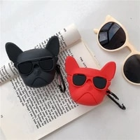 3d funny cartoon dog earphone case for aplle airpods pro bag soft silicone for air pods 2 1 case protective charging box