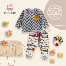 2021 Newborn Cotton Baby Boys Girls Clothes Set Autumn Winter Baby Long Sleeve T-shirt+Pants Suit Ba