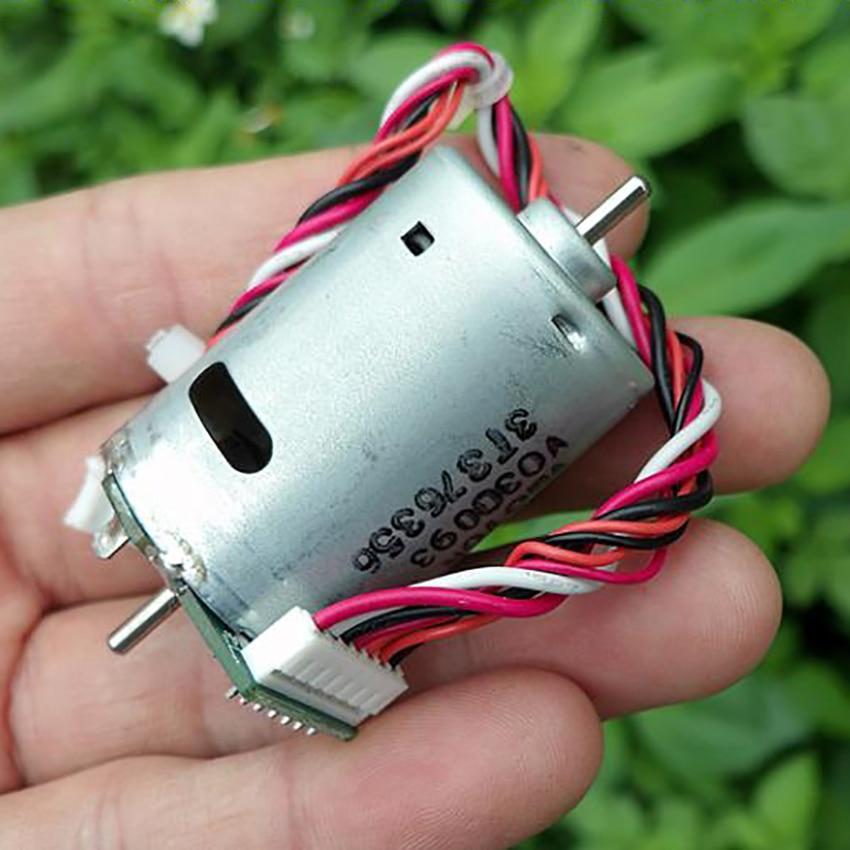 1 máquina eléctrica de doble eje DC12V-24V micromotor con componentes de doble Sala 6600 rpm-13600 rpm 0.095A- 0.115A